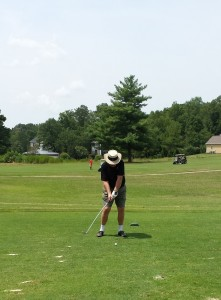 Writer and Investigator Art Lee Enjoying a Game of Golf